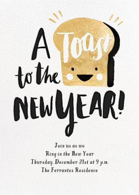 New Year's Toast (Invitation) - Hello!Lucky - New Year's Eve Invitations