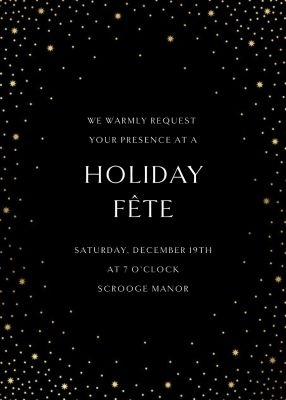 Modest Dazzle - Paperless Post - Holiday invitations