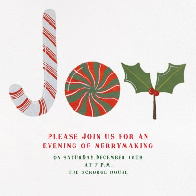 Joy to the World of Sweets - Paperless Post - Holiday invitations