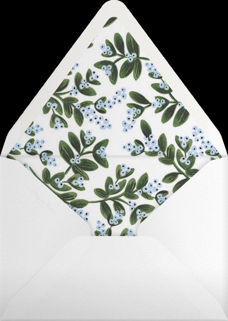 Mistletoe Accent Flourish - Flame - Rifle Paper Co. - Envelope