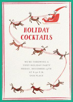 S is for Santa - Mr. Boddington's Studio - Holiday invitations