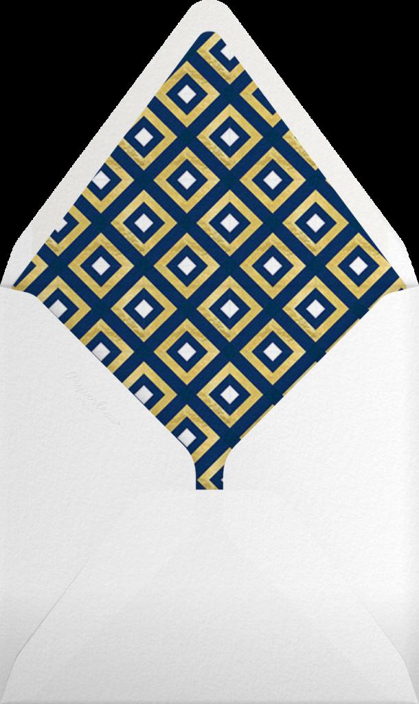 Bobo - Gold and Navy Blue - Jonathan Adler - Envelope