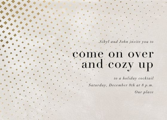 Kinetic Flow - Kelly Wearstler - Holiday invitations