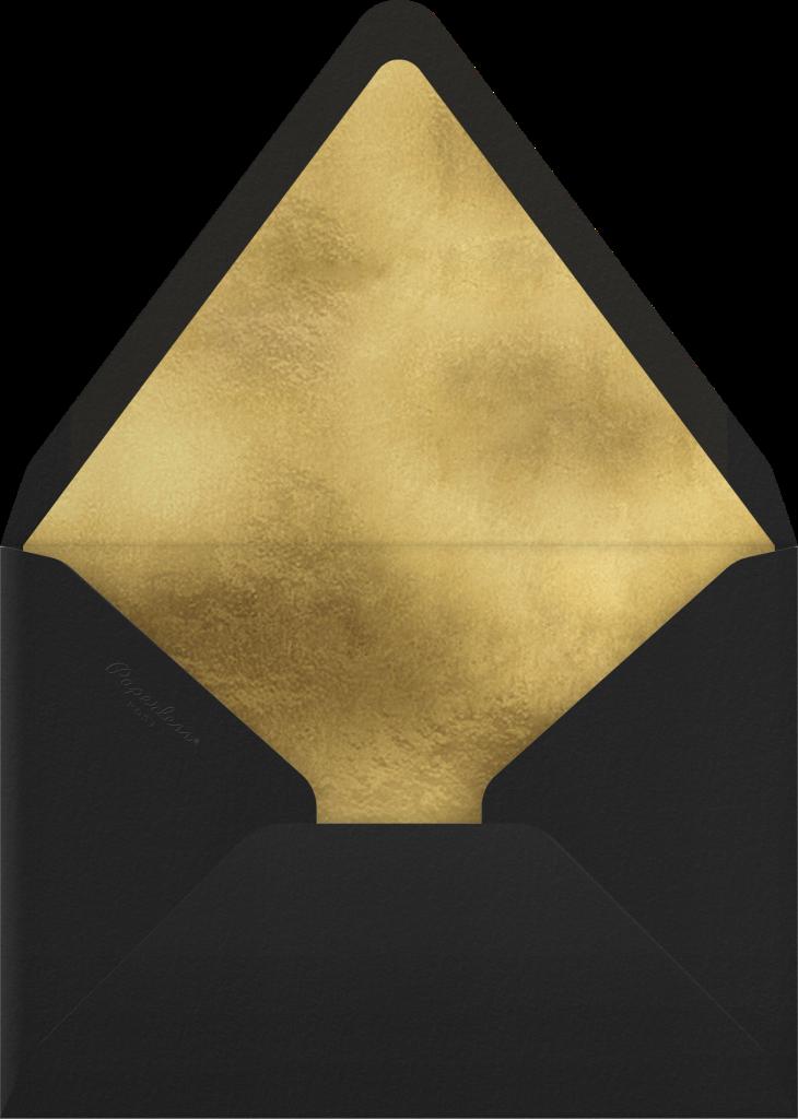 Gold Unikko - Black - Marimekko - Envelope
