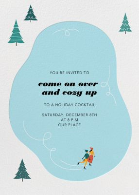 Frosty Pond - Paperless Post - Holiday invitations