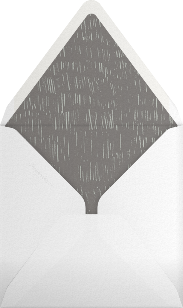 Place Setting (Square) - Gray - Paperless Post - Envelope
