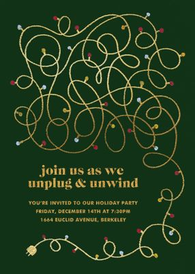 Unplug - Paperless Post - Holiday invitations