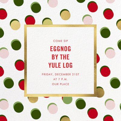 Hot Dotties - kate spade new york - Holiday invitations