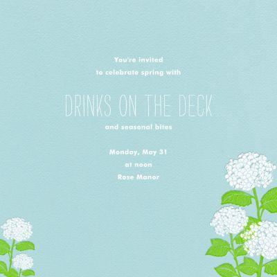 Hydrangea (Light Blue) - Paperless Post - Spring Party Invitations