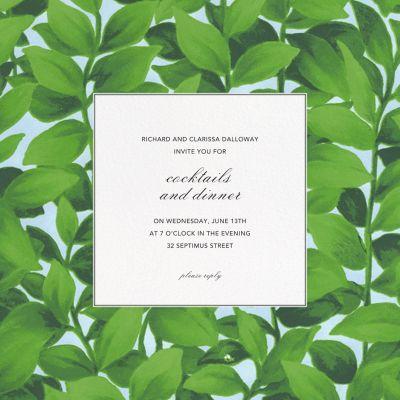 Hedge - Oscar de la Renta - Summer Party Invitations