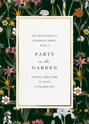 Ars Botanica - Oscar de la Renta - Spring Party Invitations