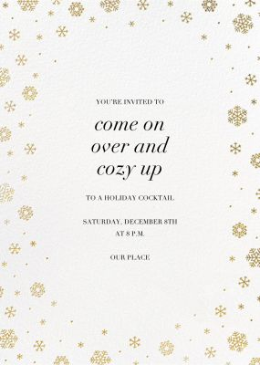 White Out - Ivory - Paperless Post - Holiday invitations