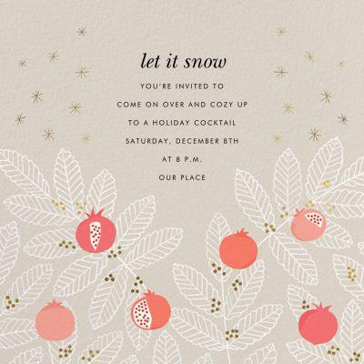 Pom Pom Club - Paperless Post - Holiday invitations