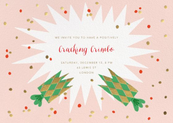 Gone Crackers - Paperless Post - Holiday invitations