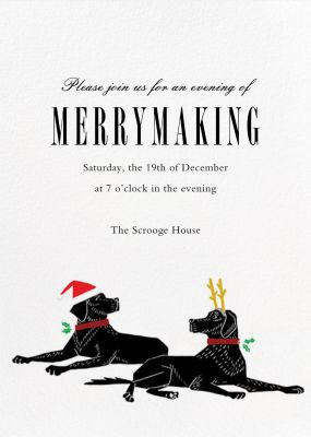 Christmas Labrador - Paperless Post - Holiday invitations