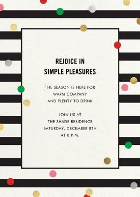 Confetti Stripes - kate spade new york - Holiday invitations