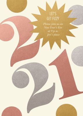 Star Confetti - Paperless Post - New Year's Eve Invitations