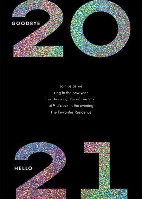Glitter Goodbye 2018 - Paperless Post