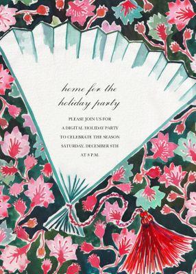 Fan Dance - Happy Menocal - Holiday invitations