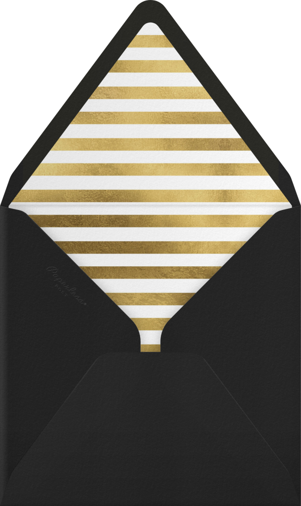 Champagne Gold (black) - Paperless Post - Envelope