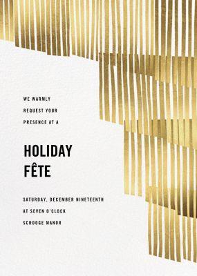 Swaying Fringe - Paperless Post - Holiday invitations