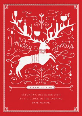Reindeer Cheer - Cheree Berry Paper & Design - Holiday invitations