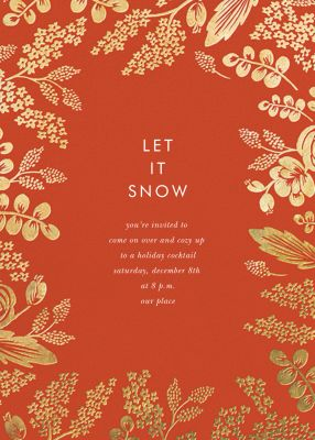 Heather and Lace - Rifle Paper Co. - Holiday invitations