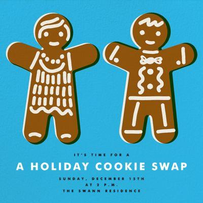 Gingerbread - The Indigo Bunting - Cookie swap invitations