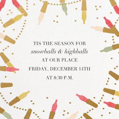 Golden Lights - Paperless Post - Holiday invitations