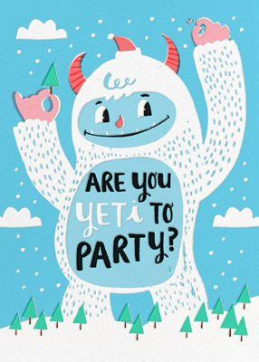 Yeti Party - Hello!Lucky - Holiday invitations