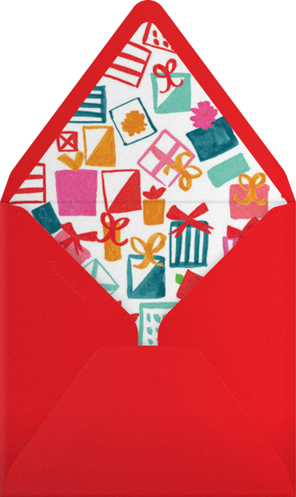 Santa Says Hello (Square) - Medium - Mr. Boddington's Studio - Envelope