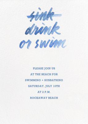 Drink Or Swim - Paperless Post