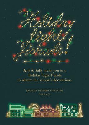 Light Parade - Paperless Post - Holiday invitations