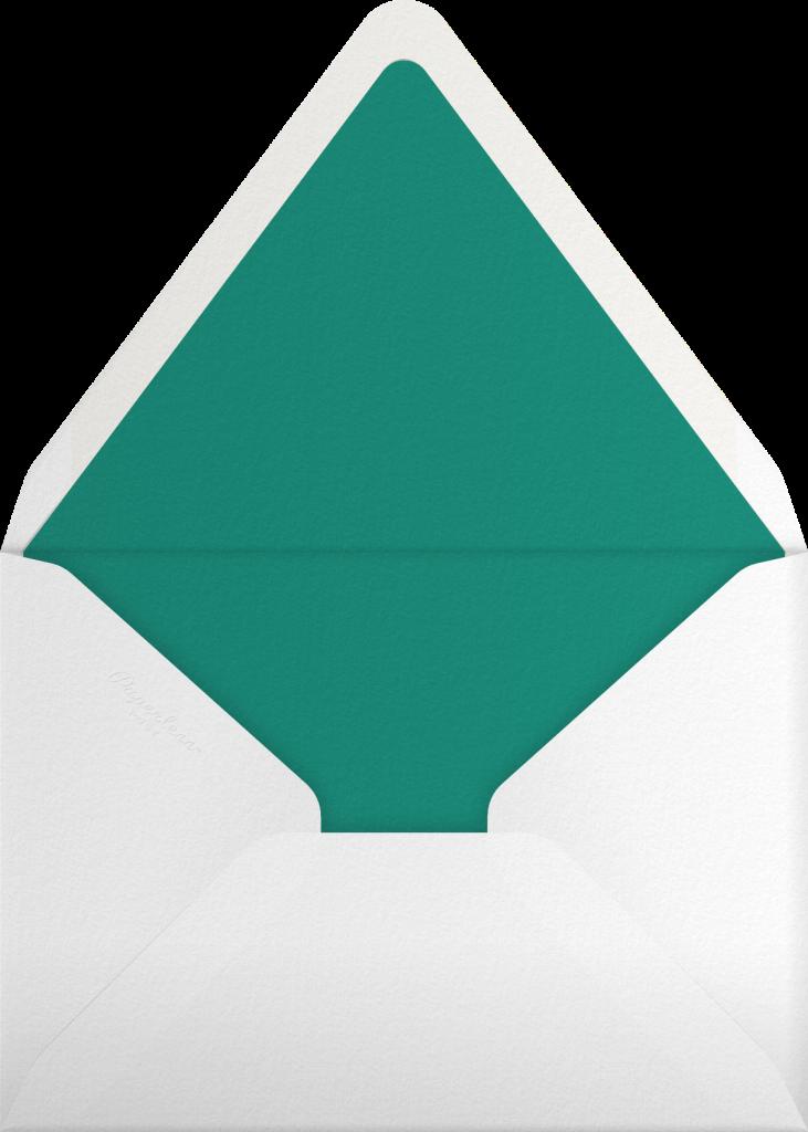 Polka Dot - Hunter Green - Oscar de la Renta - Envelope