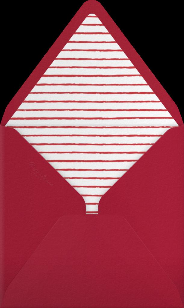 Cartwheelin' Clause - Tan - Paperless Post - Envelope
