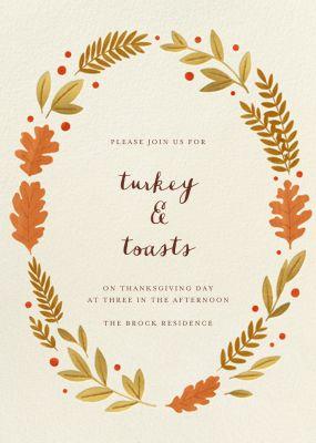 Autumnal Wreath - Paperless Post