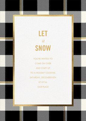 Tartan Suite - kate spade new york - Holiday invitations