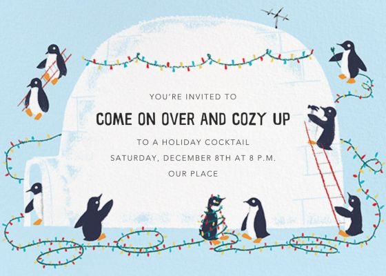 Southern Lights - Paperless Post - Holiday invitations