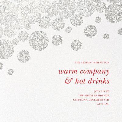 Radiant Swirls (Square) - Oscar de la Renta - Holiday invitations