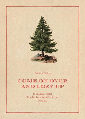Lone Fir - John Derian - Holiday invitations