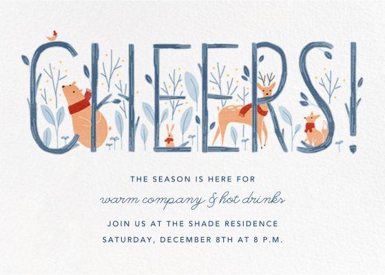 Woodland Toast - Paperless Post - Holiday invitations