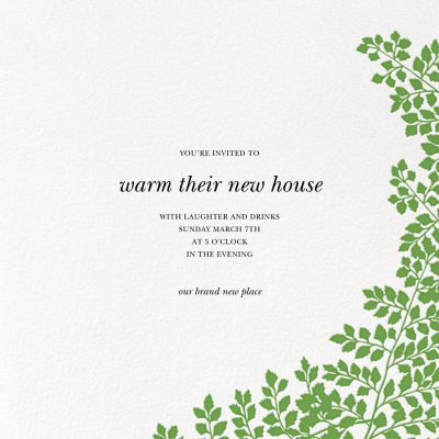 Fern II - Paperless Post - Housewarming Party Invitations