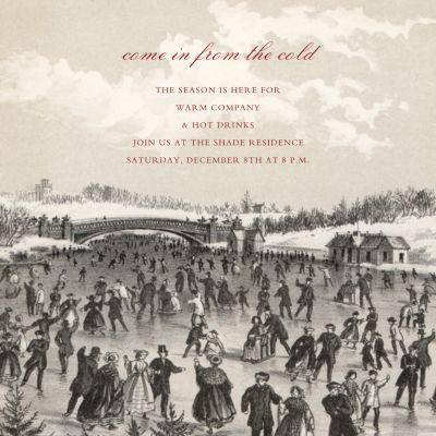 Central Park Skating Square - John Derian - Holiday invitations