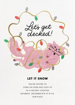 All Decked Up (Tall) - Paperless Post - Holiday invitations
