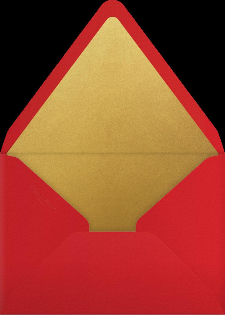 Delichon (Invitation) - Crimson - Paperless Post - Envelope