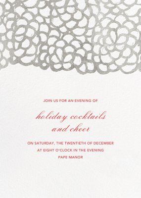 Gardenia - Tall - Oscar de la Renta - Holiday invitations