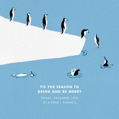 Polar Bird Club - Paperless Post - Holiday invitations