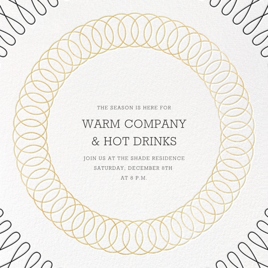 Spirals (Save the Date) - Gold - Paperless Post