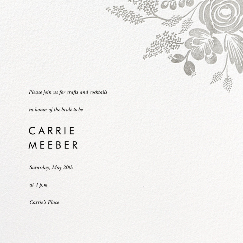 Heather and Lace (Save the Date) - Silver - Rifle Paper Co.