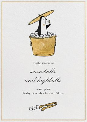Butler in the Ice Bucket - Paperless Post - New Year's Eve Invitations